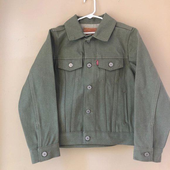 Levi's Demin Jean Jacket Size S 80-10 Unisex Green
